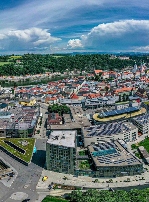 Passau Neue Mitte Luftaufnahme