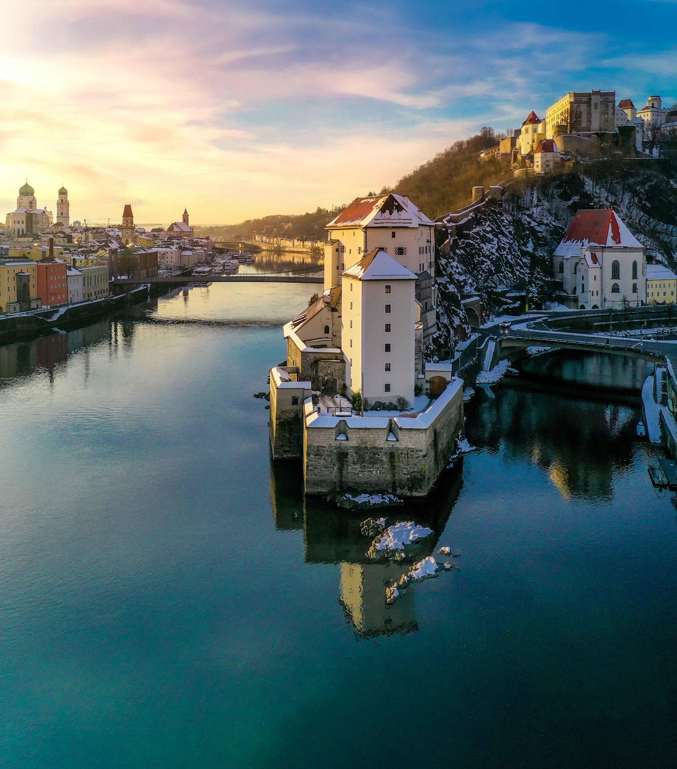 Niederhaus Passau Luftbildaufnahme