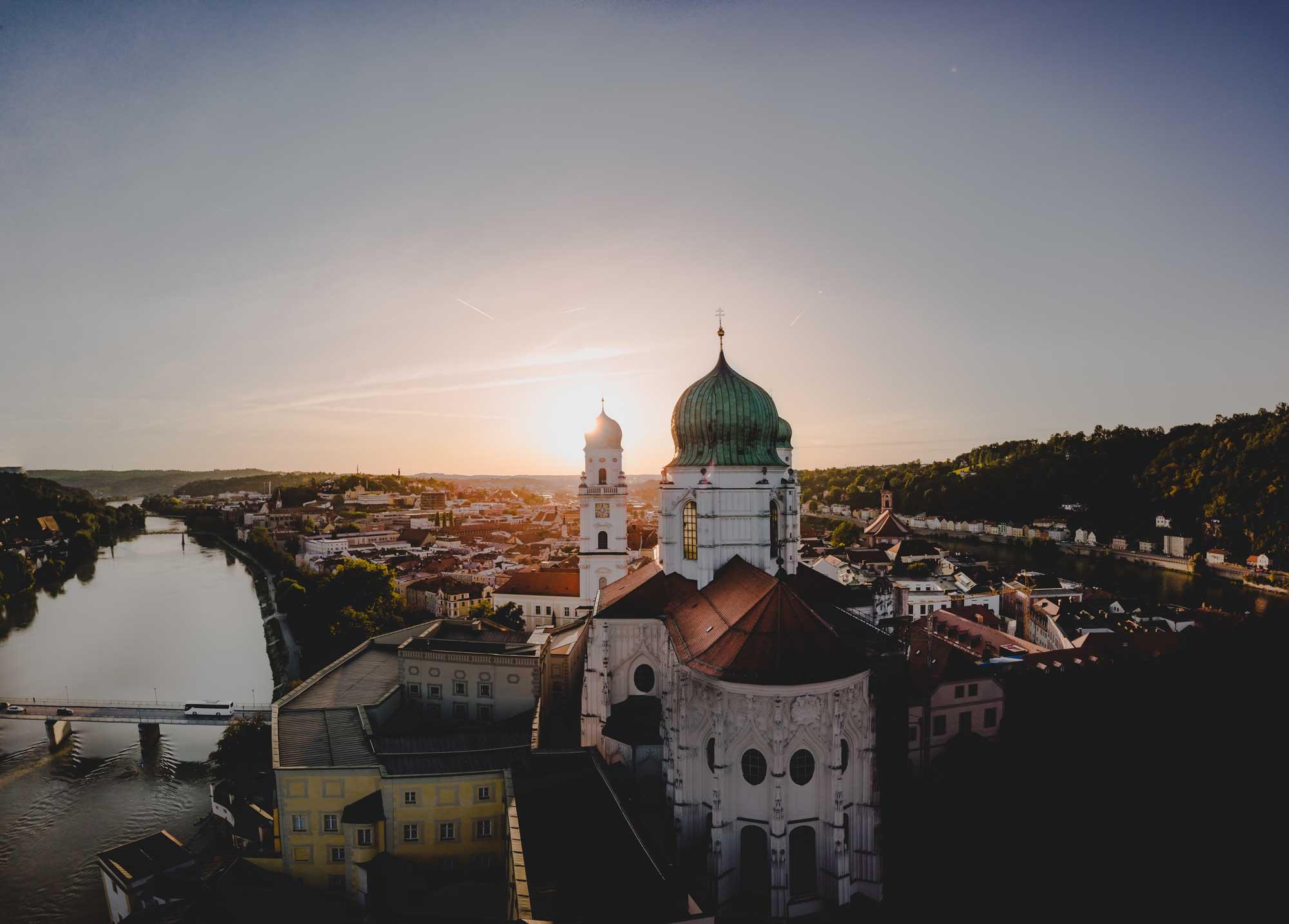 Passau im Sonnenuntergang