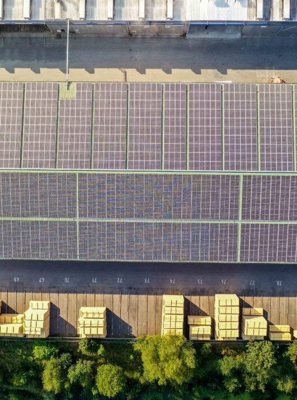 Luftaufnahme Solaranlage